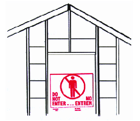 Building with Do Not Enter sign