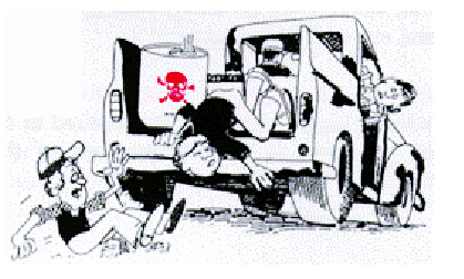 illustration of example of bad chemical transportation