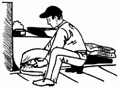 man lifting bags