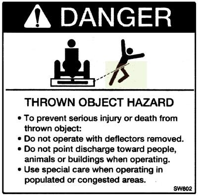 Thrown Object Hazard Label