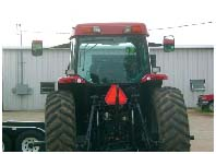 Back of tractor with SMV Sign