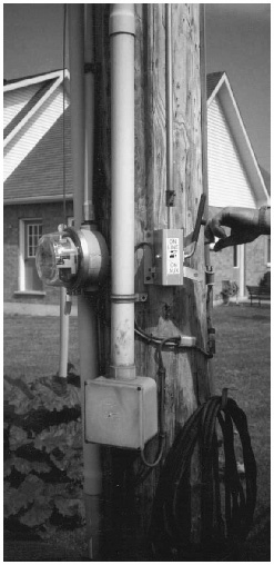 light pole with switch