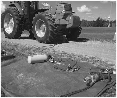 photo of equipment near machinery