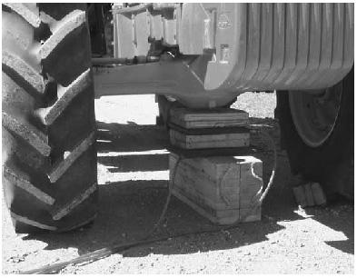 blocks under vehicle
