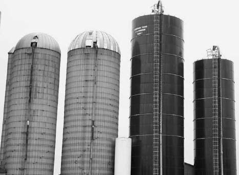 photograph of silos