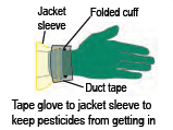 graphic: cuff and jacket sleeve