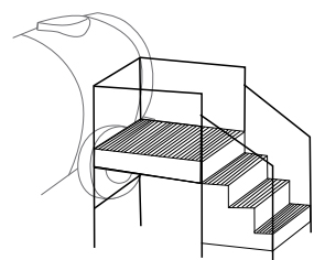stair for loading tank graphic