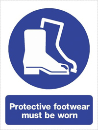 Protective footwear sign