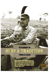 It's easier to bury a tradition than bury a child poster