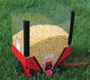 grain wagon with popping corn