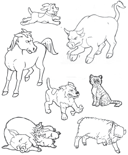 nasd paws for farm safety animal safety Diagram of Cat S Brain coloring and activity page