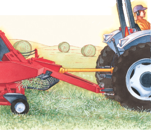 child using a tractor and PTO-powered implements