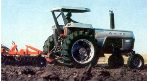 Photo of a tractor with a 2-post ROPS