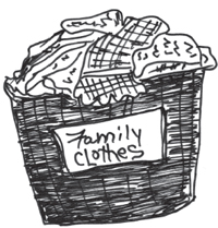 clothes hamper for family clothes