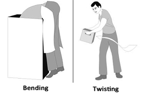 images of a person bending and twisting
