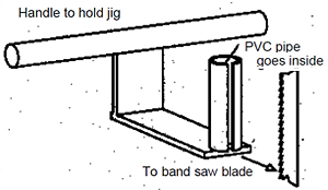 schematic of the pvc handle